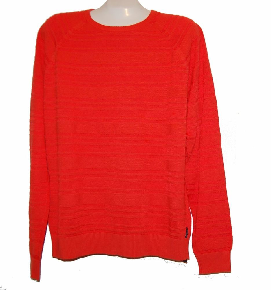 Armani Exchange Orange Men's Cotton Long Sleeve Sweater Size 2XL ...