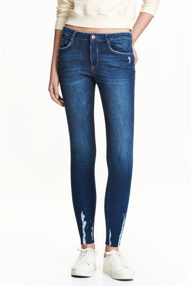 Super Skinny Ankle Jeans - Denimblauw - DAMES | H&M BE 1