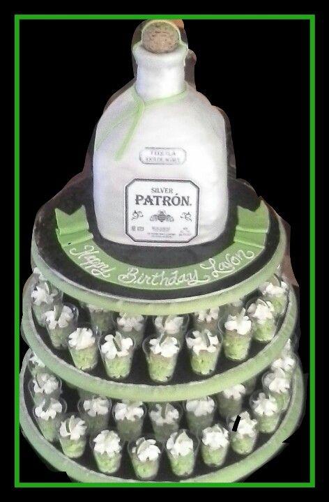 Patron Cake W Patro N Lime Cake Shots 40th Birthday