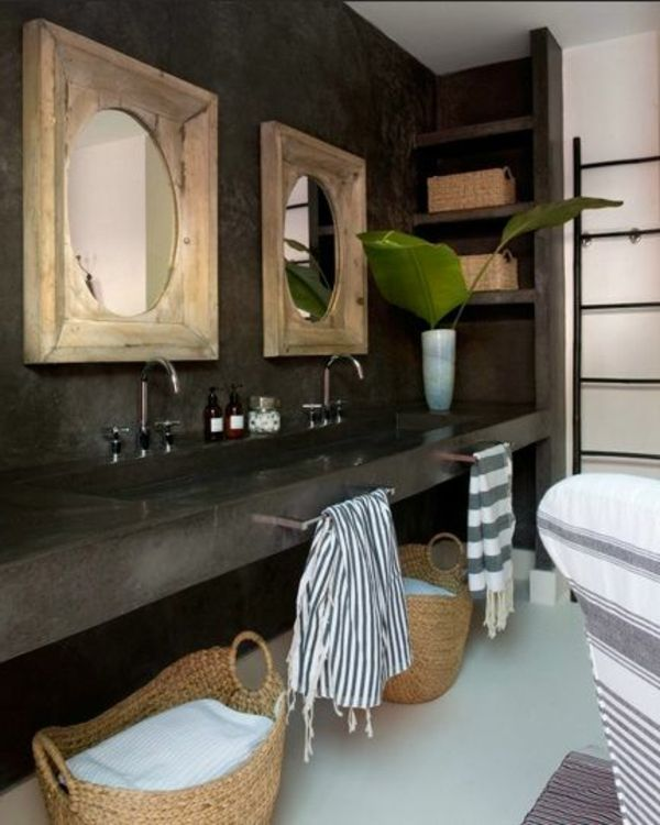 badideen badezimmer ideen bilder deko klein dunkel Badideen