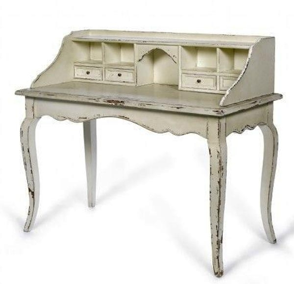 Antique Secretary Writing Desk | Desk: Antique White French Secretary Desk  from Out There Interiors - Antique Secretary Writing Desk Desk: Antique White French