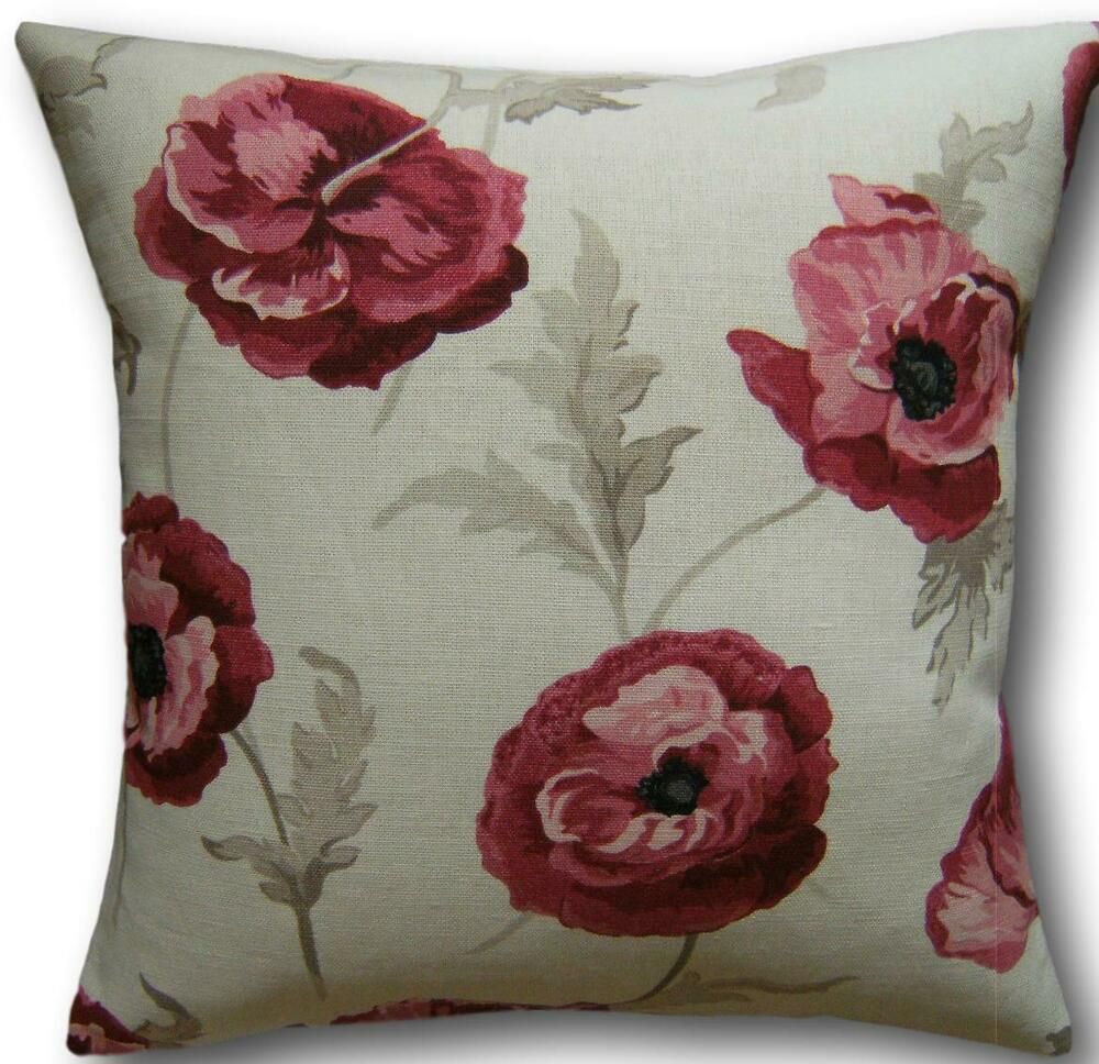In all sizes Cushion cover made from Laura Ashley cranberry fabric