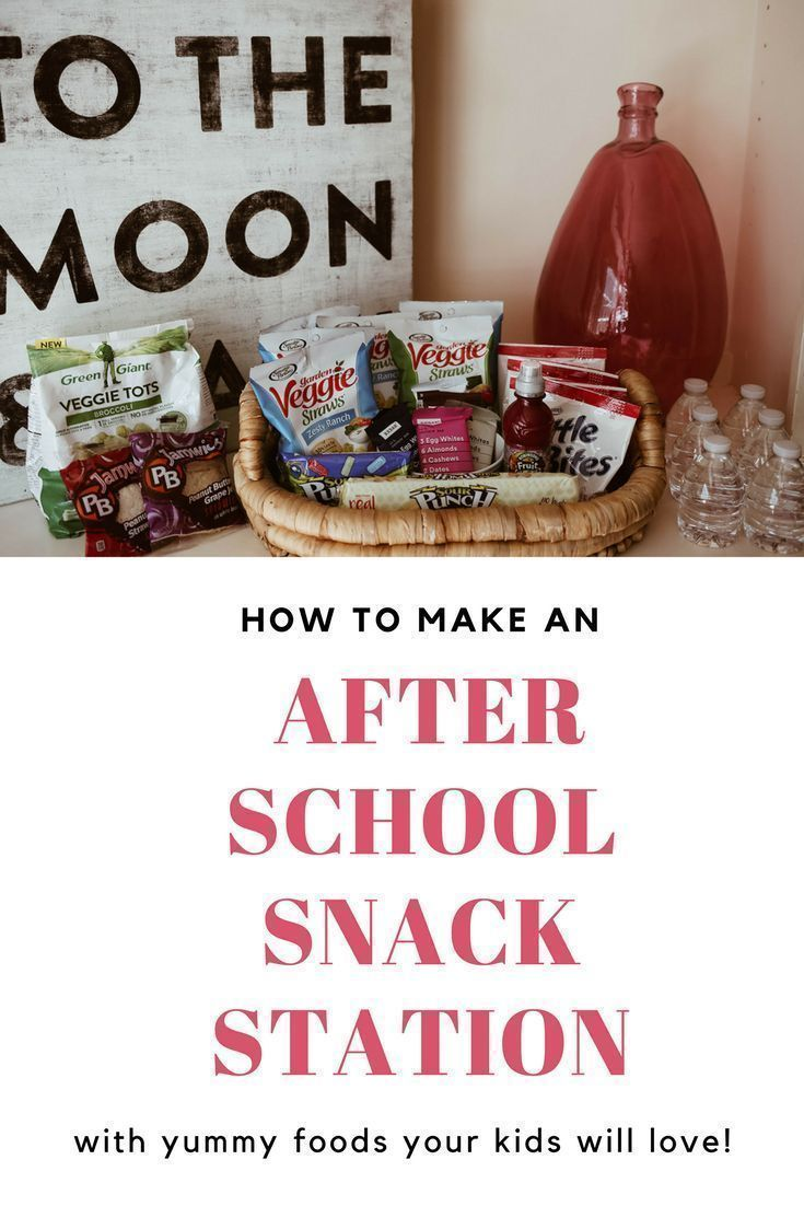 Creating an After School Snack Station images