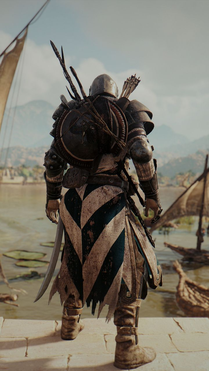 Assassin S Creed Origins Bayek Of Siwa Game Warrior 720x1280