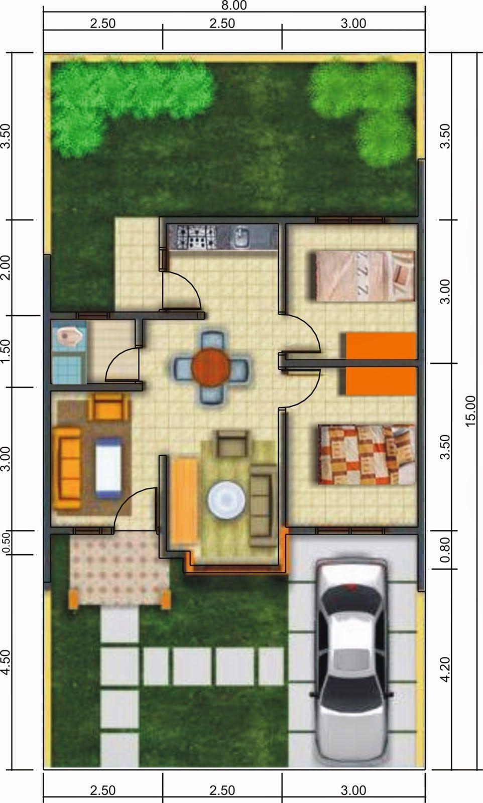 Desain Denah Rumah Sederhana Modern Design Your Dream House Small House Design Minimalist House Design