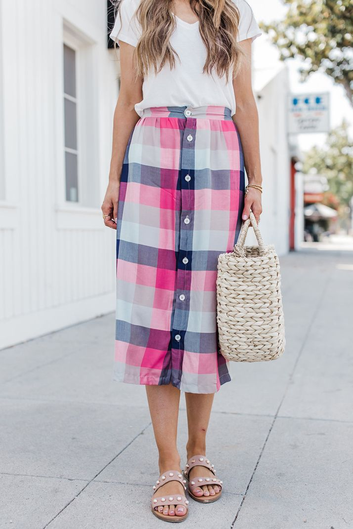 How to Make a Button Front Midi Skirt   Clothing Tutorials ...