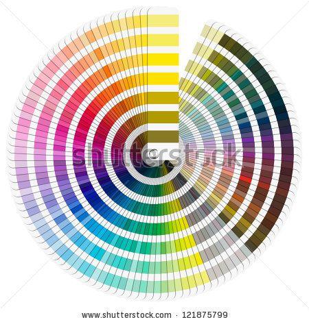 Pantone color palette color palette guide isolated on white pantone color palette color palette guide isolated on white background circle stock photo ccuart Image collections