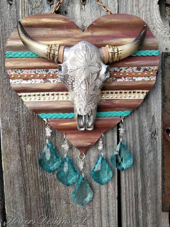 Cow Skull Suncatcher