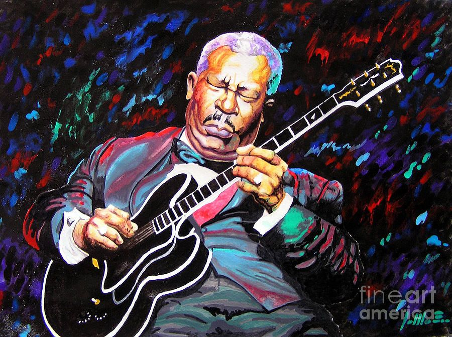 Music Painting - Tribute To Bb King by Jose Miguel Barrionuevo