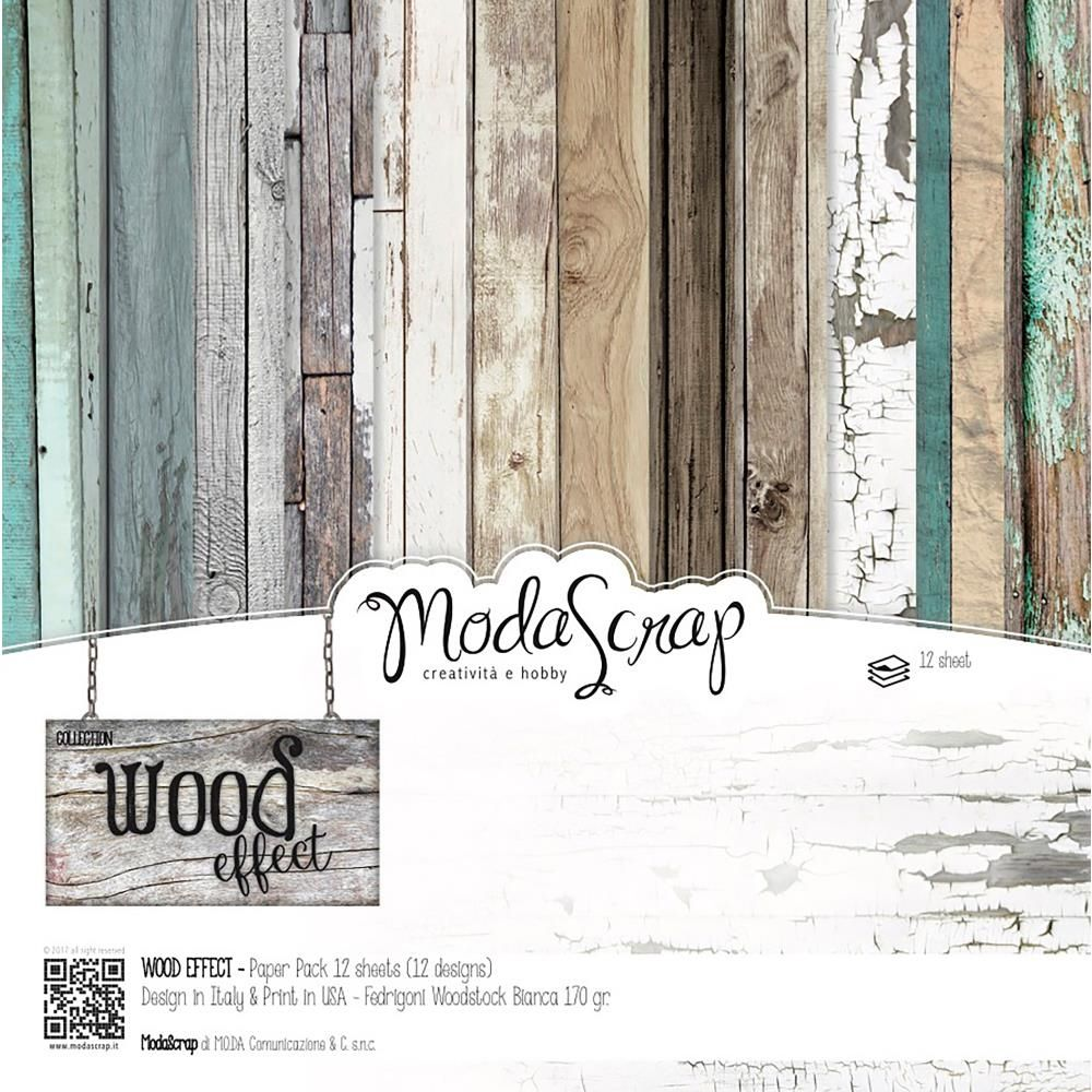 Modascrap Wood Effect 12x12 Paper Wepp30 Paper Paper Pack Elizabeth Craft Designs