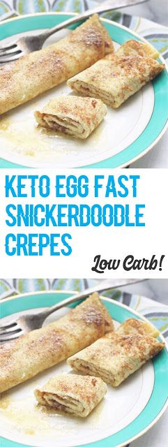Low Carb Keto Egg Fast Snickerdoodle Crepes #ketoegg