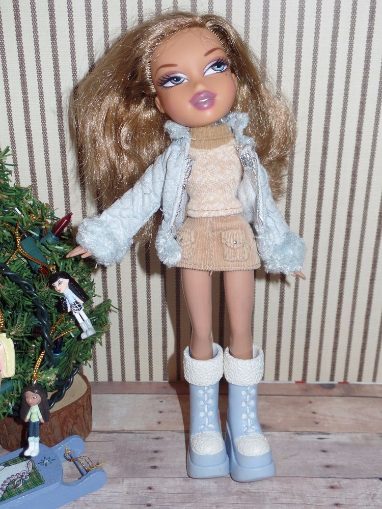 Bratz Doll With Clothes Shoes Blue Eyes Brown Hair 1 Skirt Ebay Brown Hair Blue Eyes Bratz Doll Brown Hair