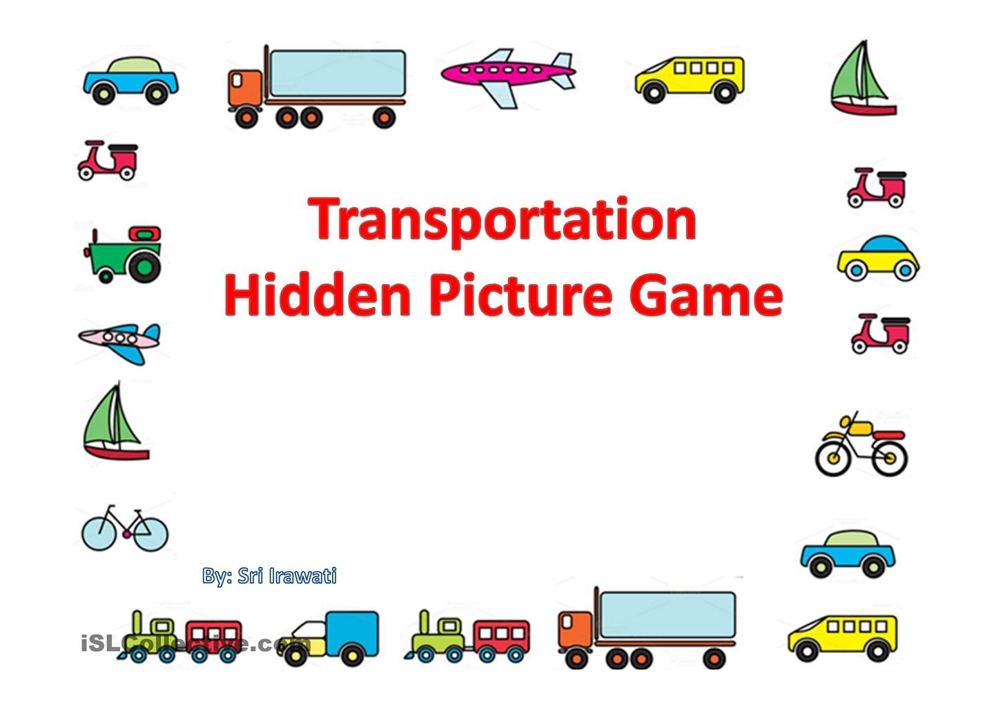 Transportation Hidden Picture