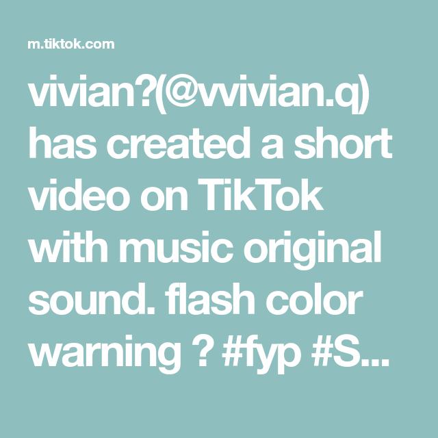 Vivian Vvivian Q Has Created A Short Video On Tiktok With Music Original Sound Flash Color Warning Fyp Scoobdance The Originals Funny Moments Music