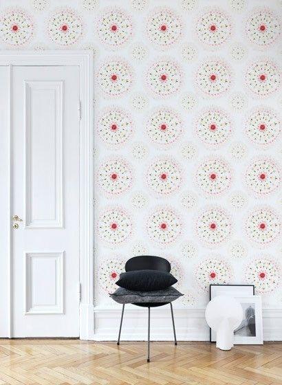 Sandberg Wandbild Flower Tiles-2564 | abstrakte Blumen, Tapeten und ...