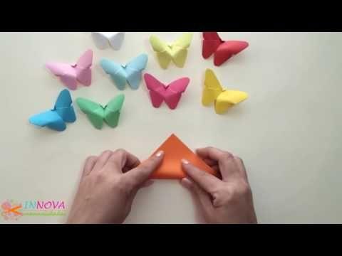 Как сделать бабочку из бумаги - YouTube | Бумажные бабочки ...