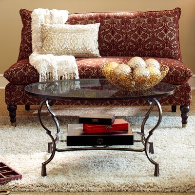 Chasca Glass Top Brown Oval Coffee Table Coffee Oval Coffee - Chasca coffee table