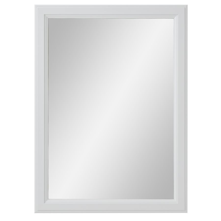 Art Exhibition Diamond FreshFit Calhoun in W x in H White Rectangular Bathroom Mirror