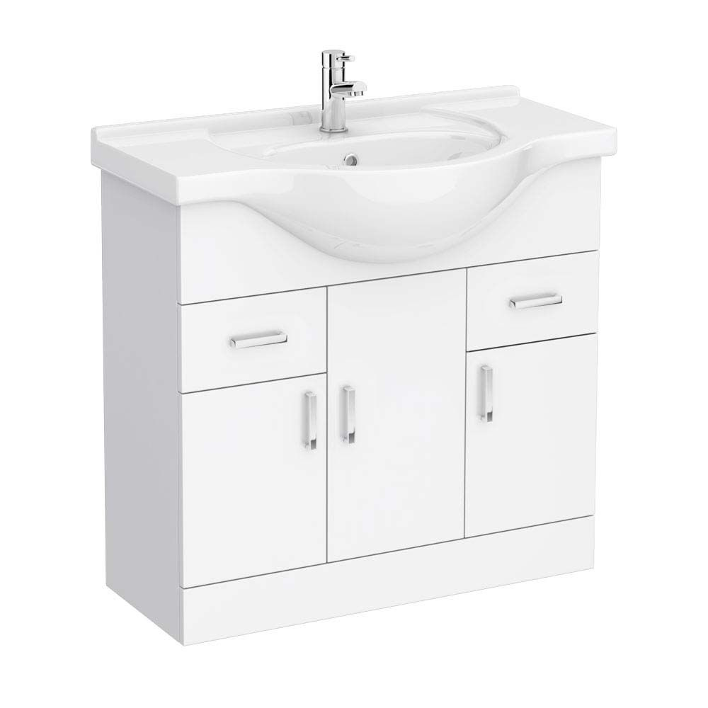 Cove White 850mm Vanity Unit | Bathroom | Pinterest | Vanity units ...