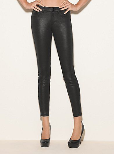 Brittney Skinny Ponte Pants with Zippers | GUESS.com