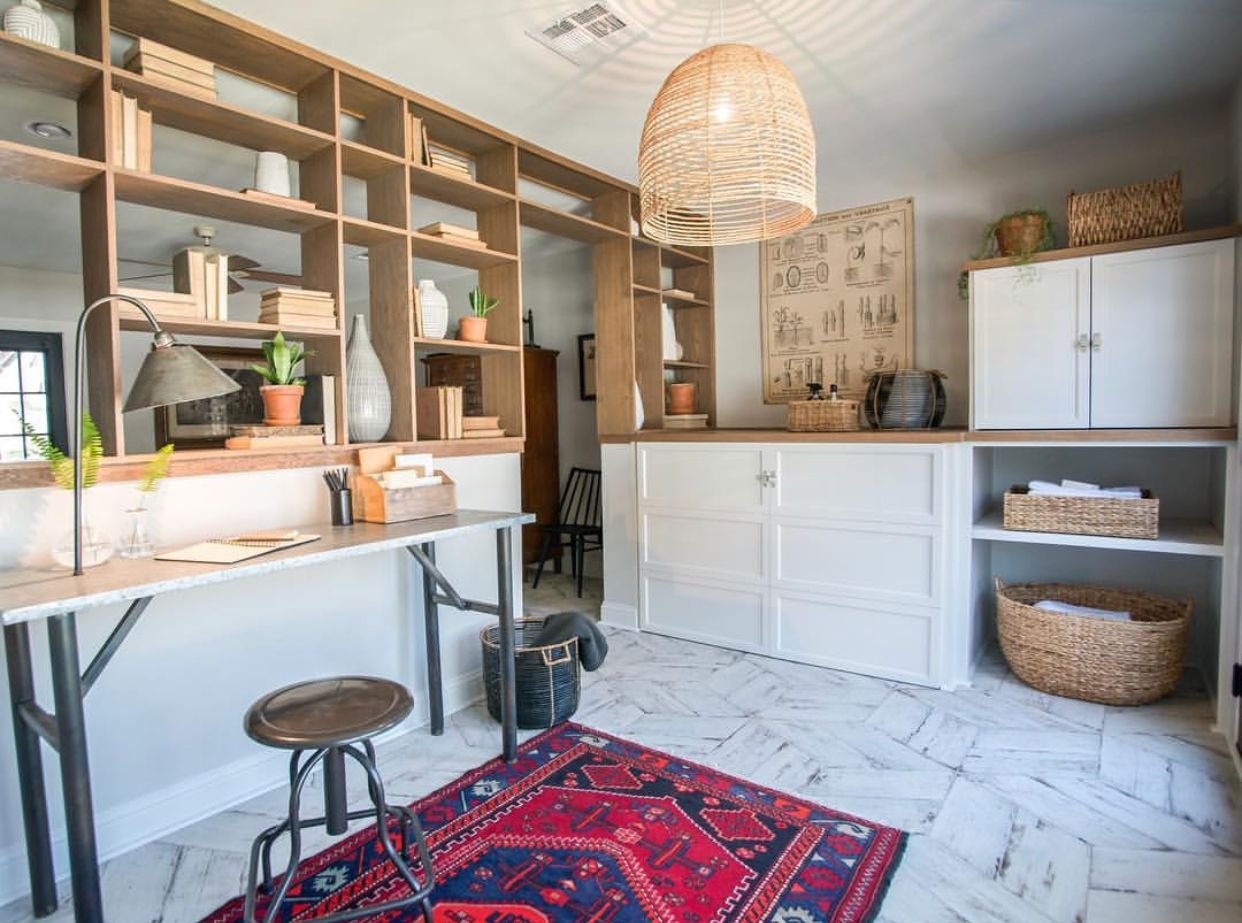 partial wall  kitchen remodel fixer upper home
