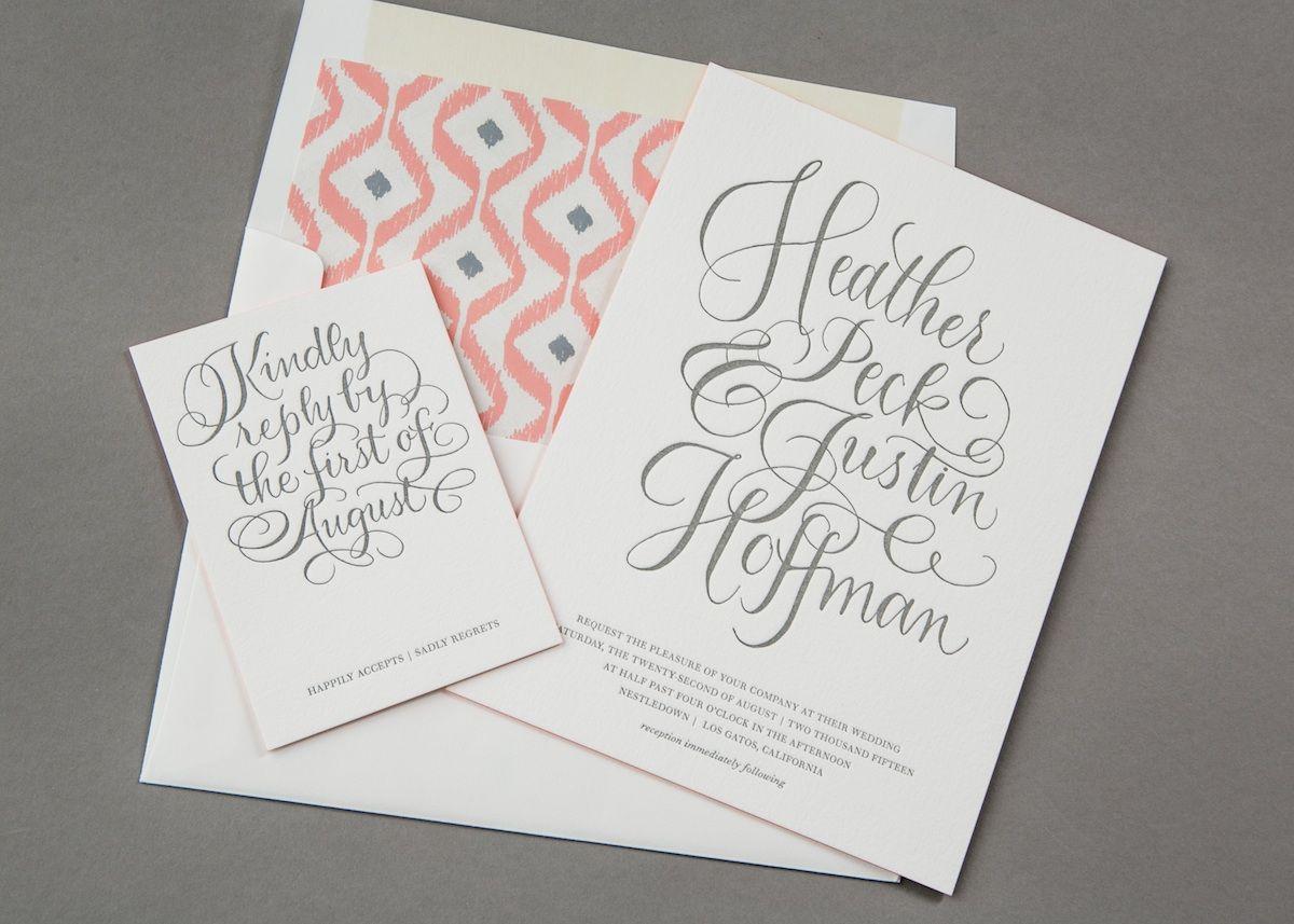 love the geometric envelope liner | wedding invitation inspiration ...