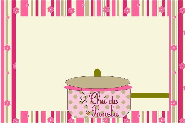 Chá de Panela – Kit Completo com molduras para convites, rótulos para guloseimas, lembrancinhas e imagens!