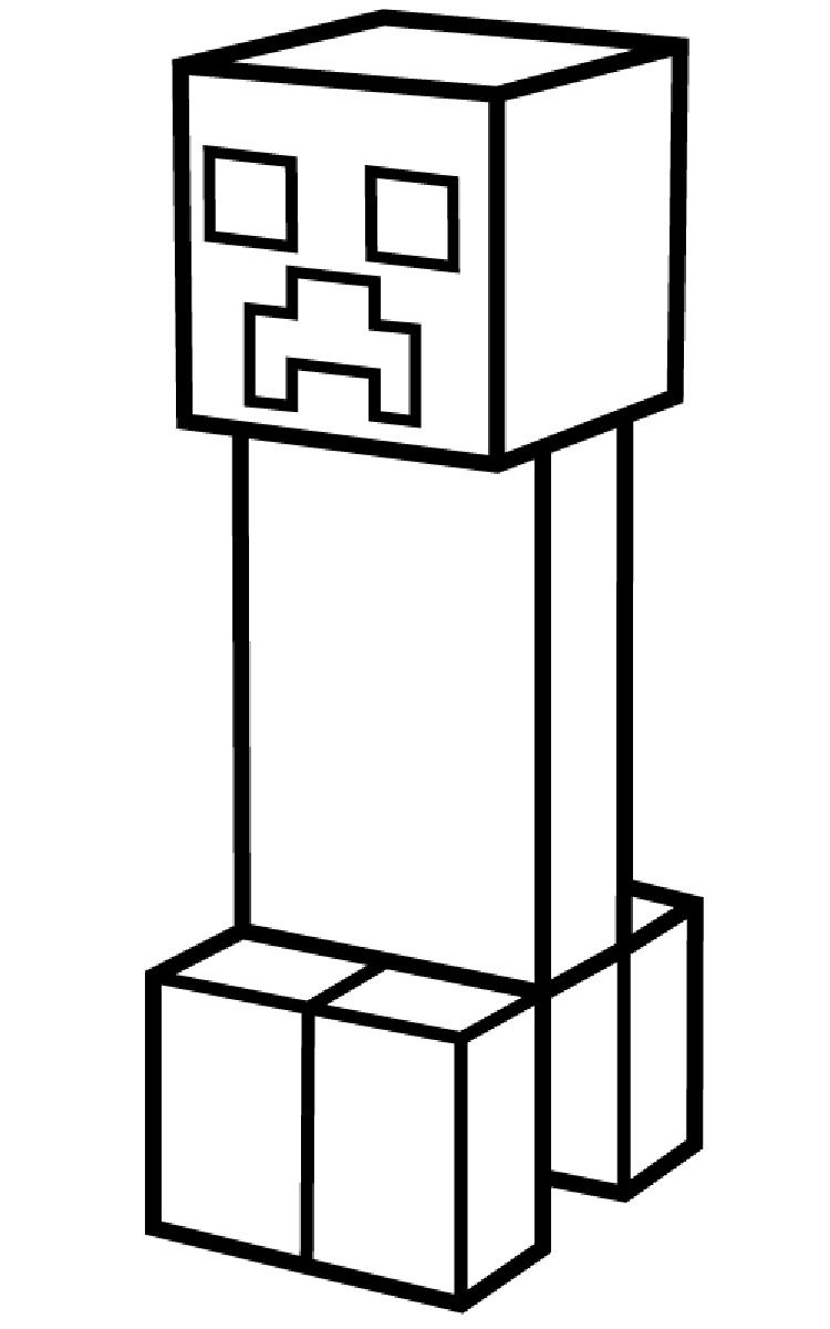 Minecraft Creeper Coloring Pages Printable Fargelegging Kunst