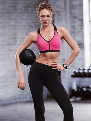 ab1c12e43df42 EXCLUSIVE VIDEO  Candice Swanepoel Introduces the Latest Sports Bra by Victoria s  Secret  SELFmagazine