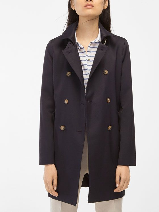 Navy Double Blue Breasted Elegant Style Pinterest Trench Coat rqrPR5xZ b8d9265f1423