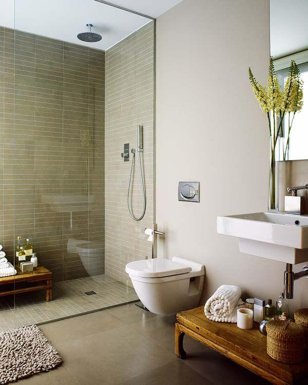 Duchas de obra con estilo dise o a medida platos de for Diseno de cuartos de bano pequenos con ducha