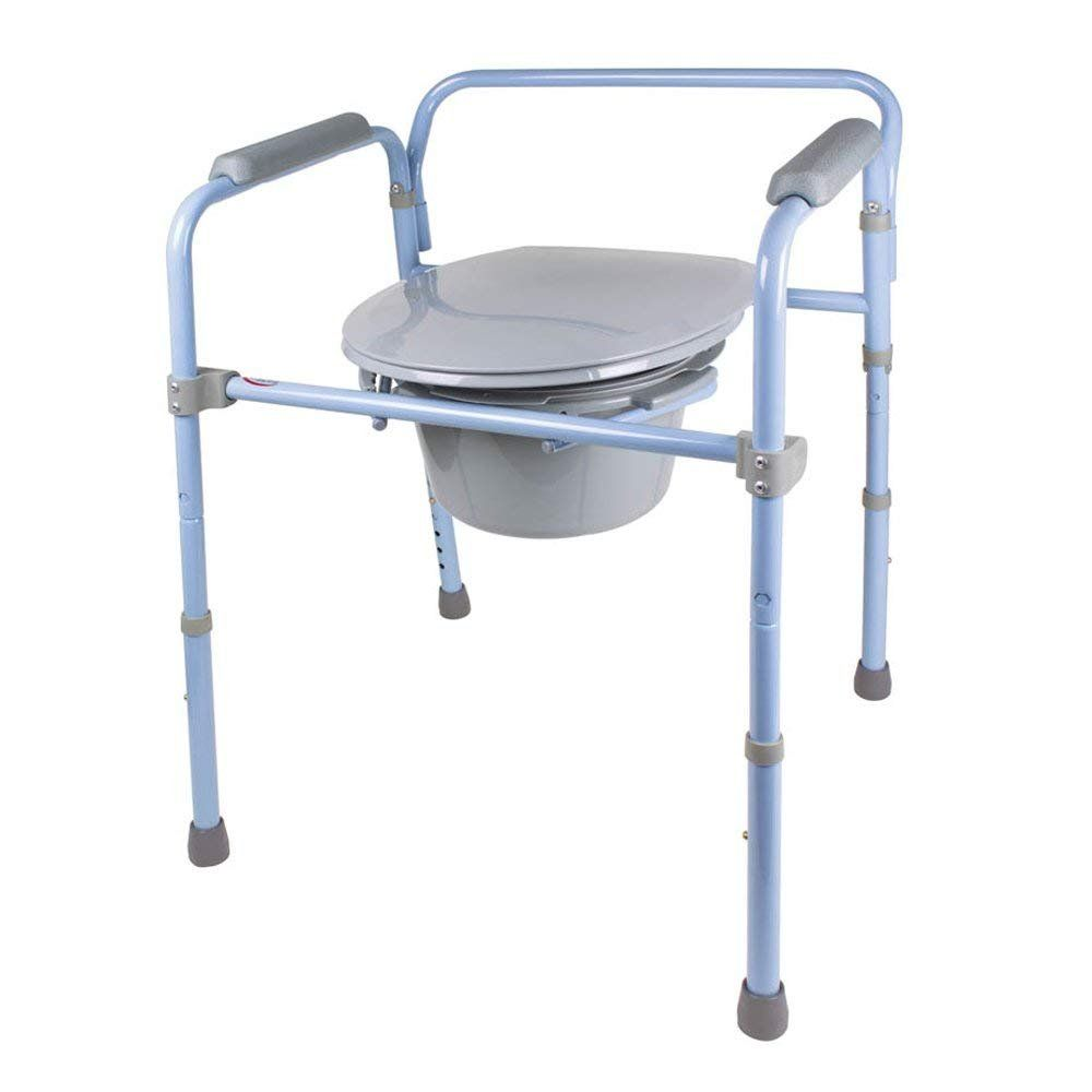 Carex 3in1 folding commode combo bedside commode