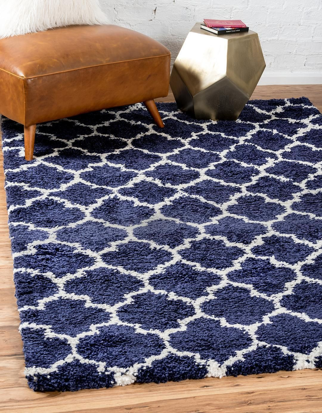 Navy Blue 8 X 10 Marrakesh Shag Rug Area Rugs Esalerugs