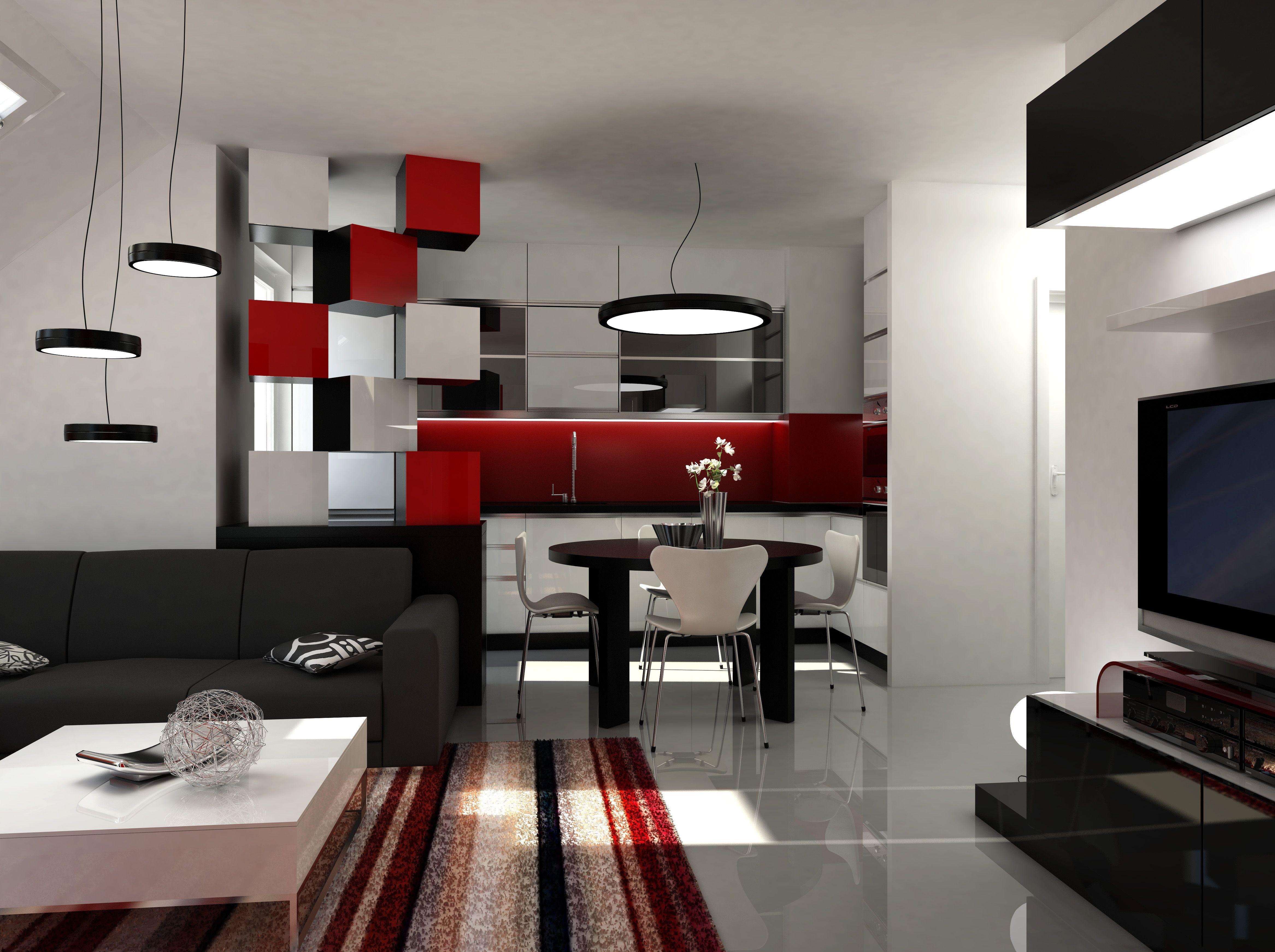 Entzuckend Deko Für Wohnzimmer In Rot Modernes Minimalistisches Haus