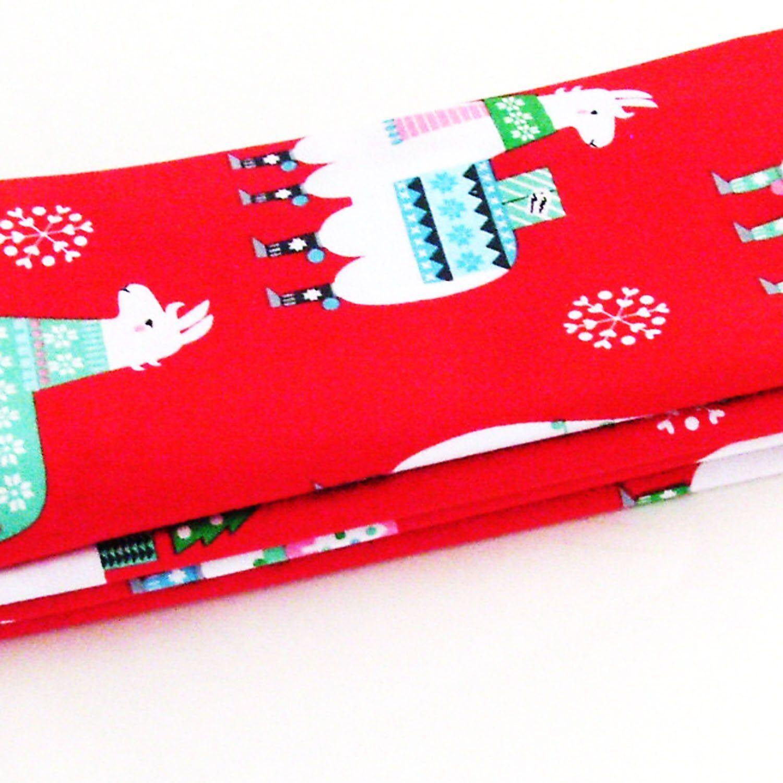 Handmade Christmas Llamas Napkins (Set of 4 100 Cotton