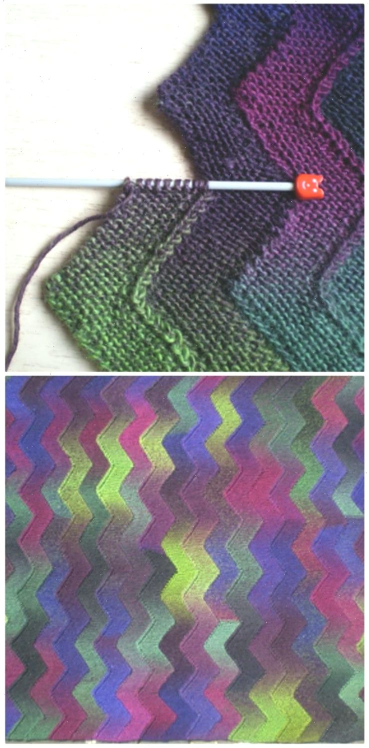 Zig Zag Knitted Blanket Free Pattern in 2020   Knitted ...