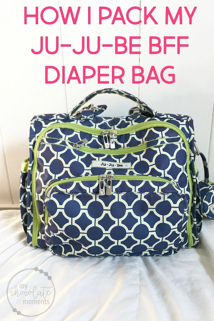 how I pack my Ju-Ju-Be BFF diaper bag for a 19 month old in cloth diapers