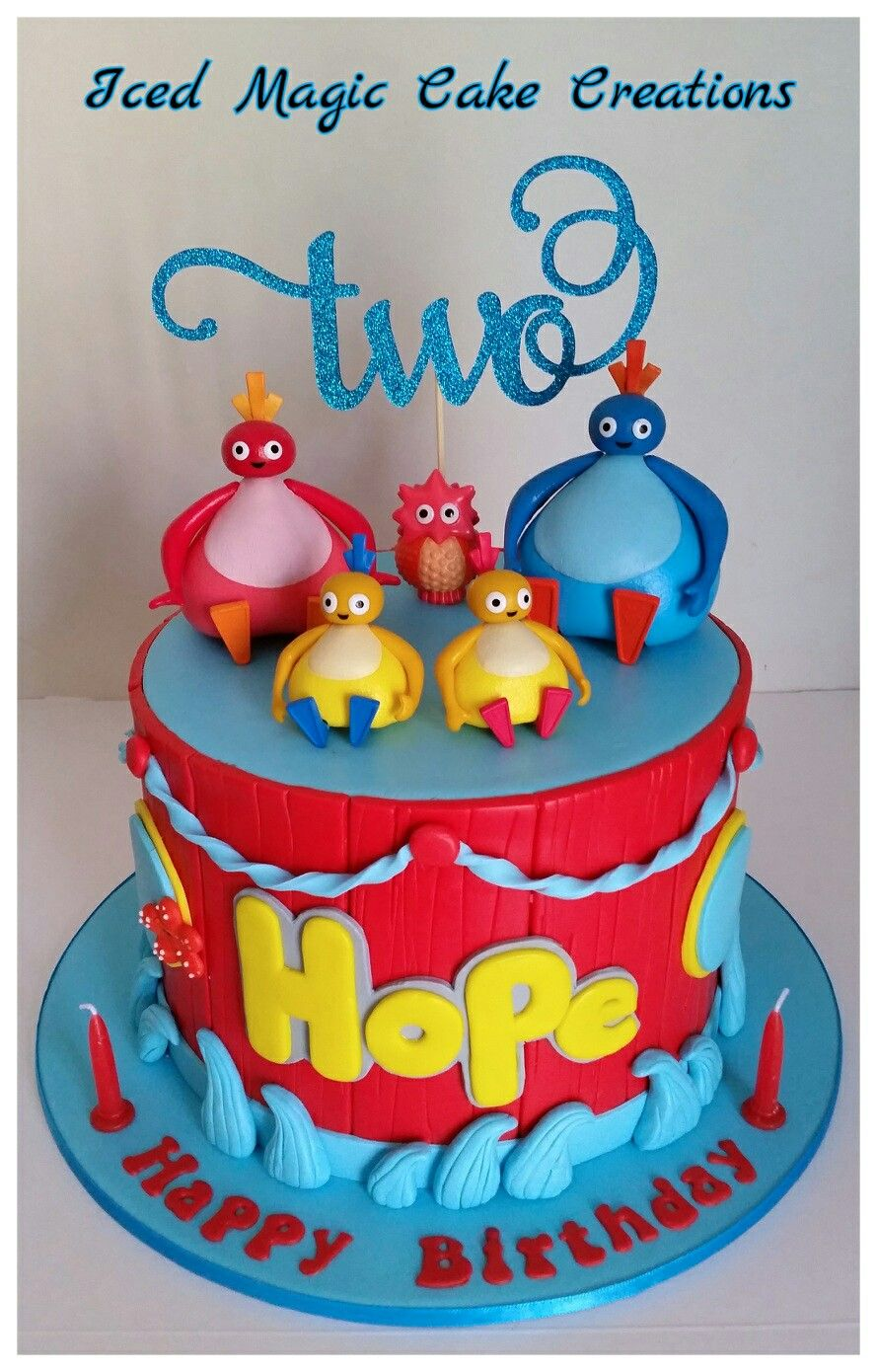 Strange Twirlywoos 2Nd Birthday Cake Facebook Com Icedmagiccreations Funny Birthday Cards Online Benoljebrpdamsfinfo