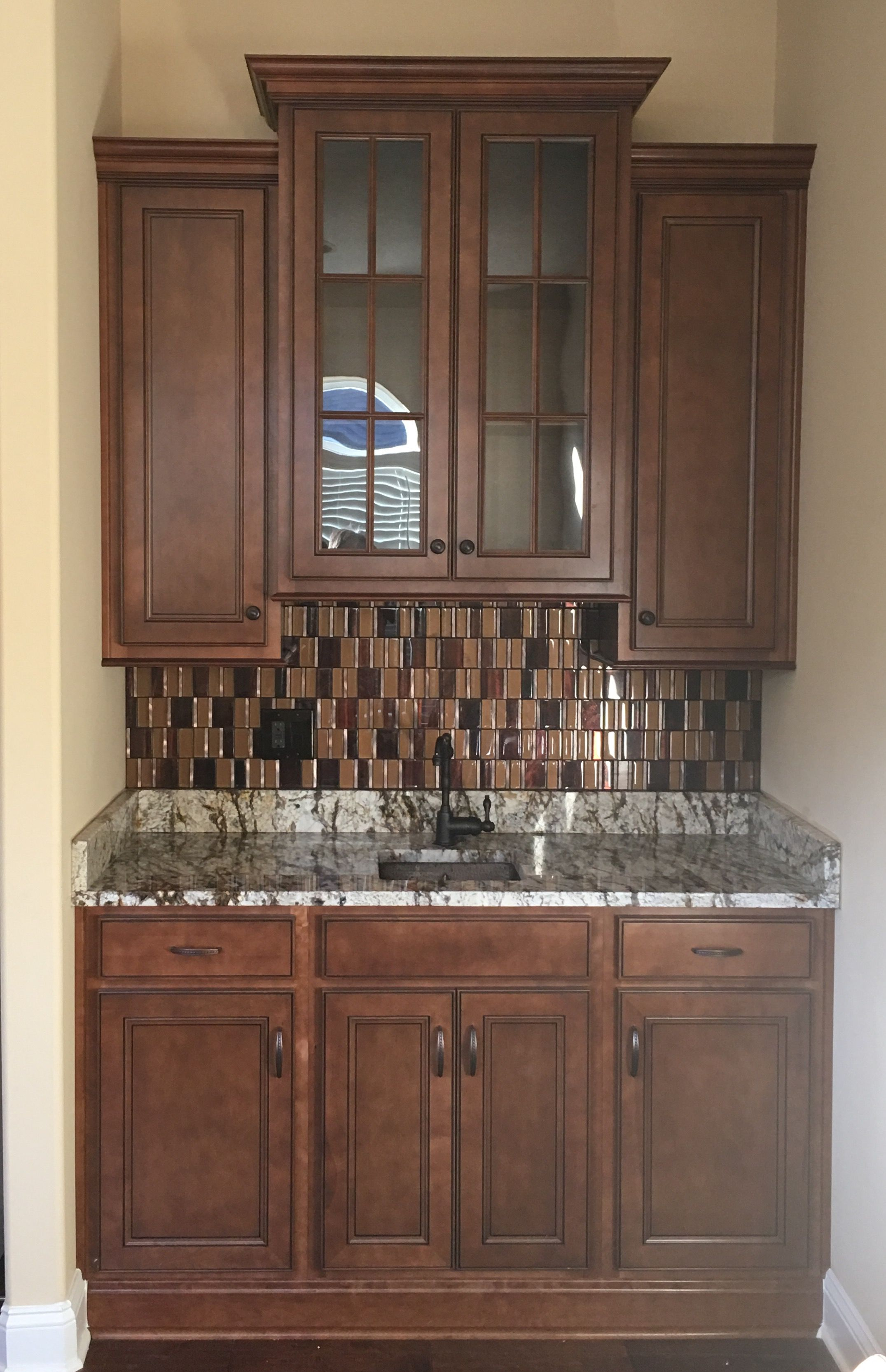 Aristokraft Pumpernickel Glaze cabinets Daltile Java Copper 15