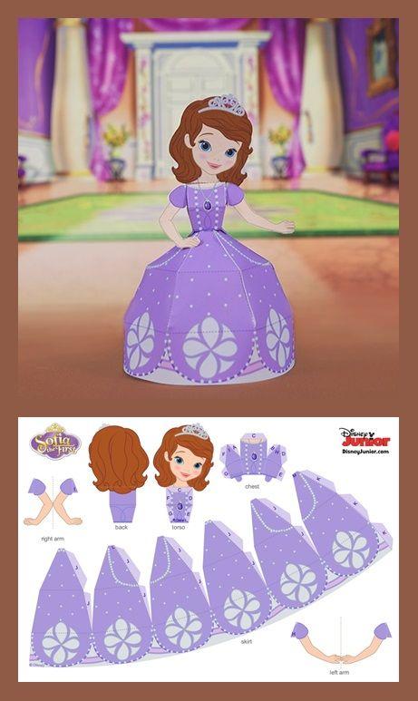 Sofia 3d Papercraft Disney Family Disney Paper Dolls Princess Paper Dolls Paper Crafts