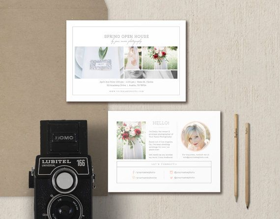 Photography Mini Session Template  Open House Flyer  Digital