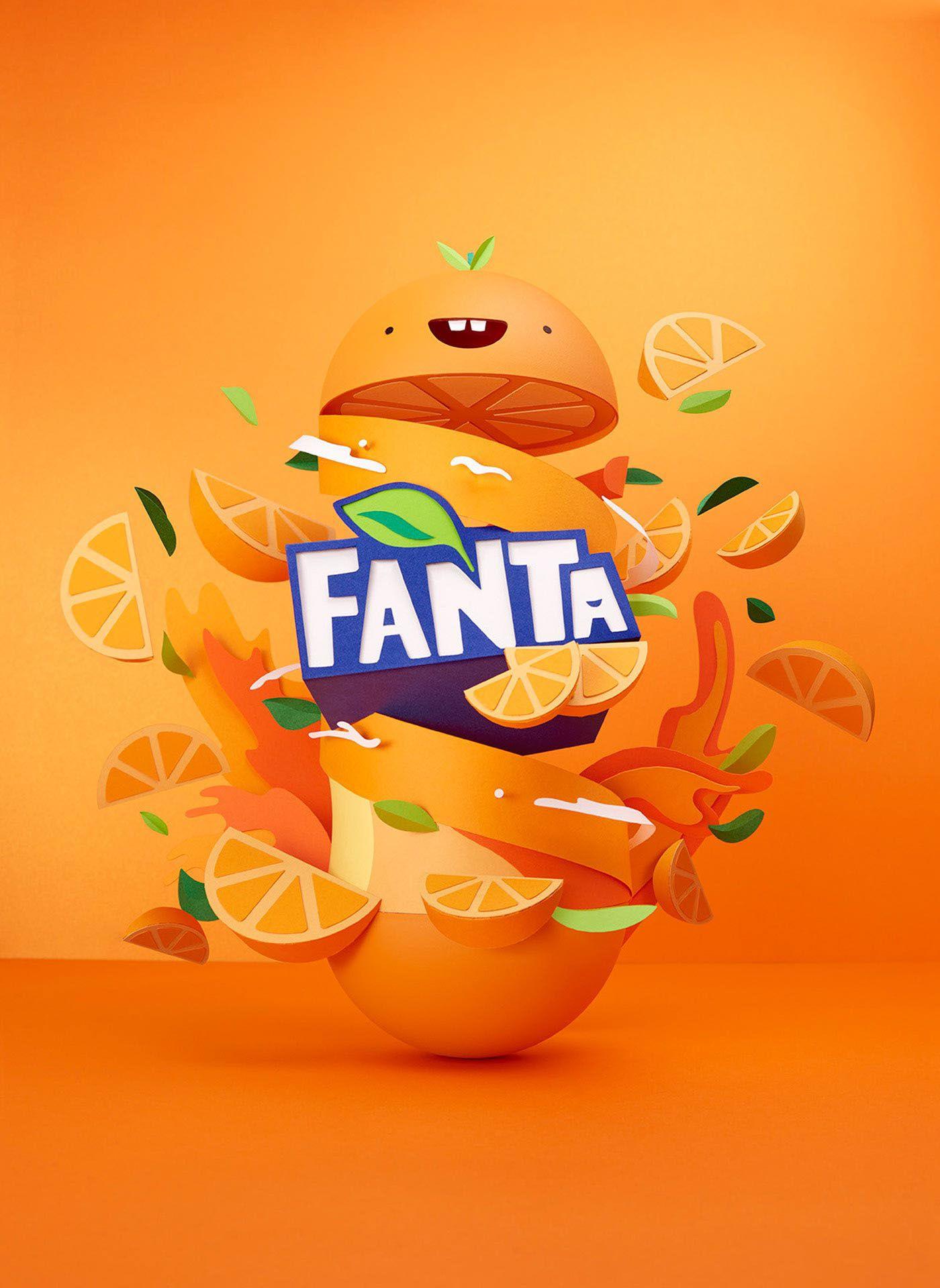 Fanta Flavourland Lobulo Behance Layout Advertising Design Ad Packaging