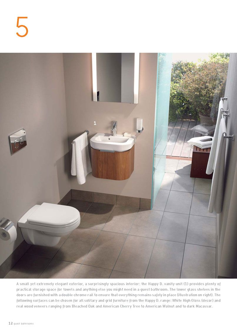 Wash basin 46 cm from the Duravit Happy D line 0417460000