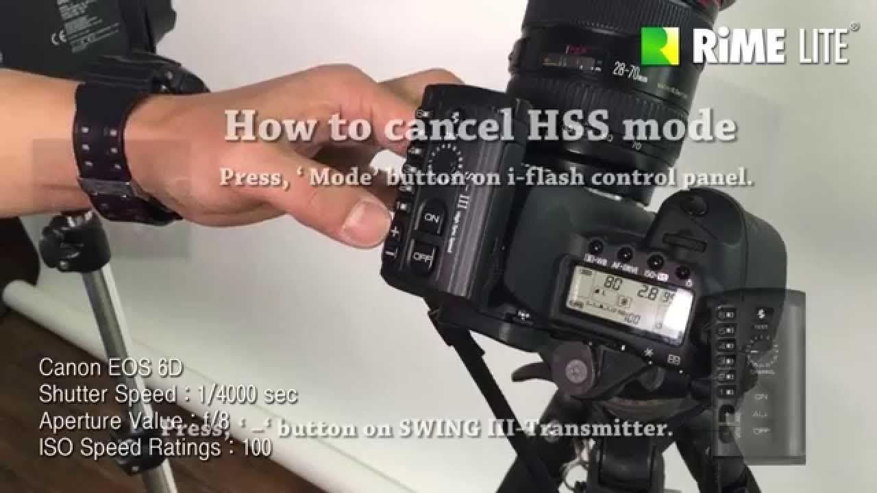 How To Use Rime Lite I Flash Hss Mode Shutter Speed Flash Lite