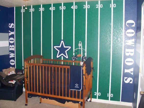20 boys football room ideas dallas cowboys nursery for Dallas cowboys wall decals for kids rooms