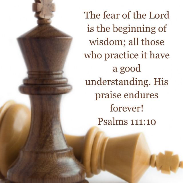 Psalm 111:10 | Psalms, Fear of the lord, Christian quotes about life