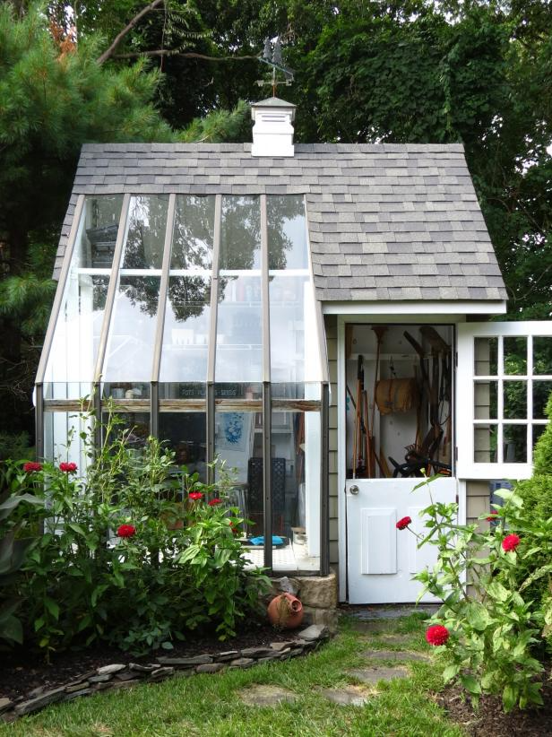 35 Inspiring Shed Ideas And Makeovers Room Makeovers To Suit Your Life Hgtv In 2020 Backyard Storage Sheds Backyard Sheds Greenhouse Shed