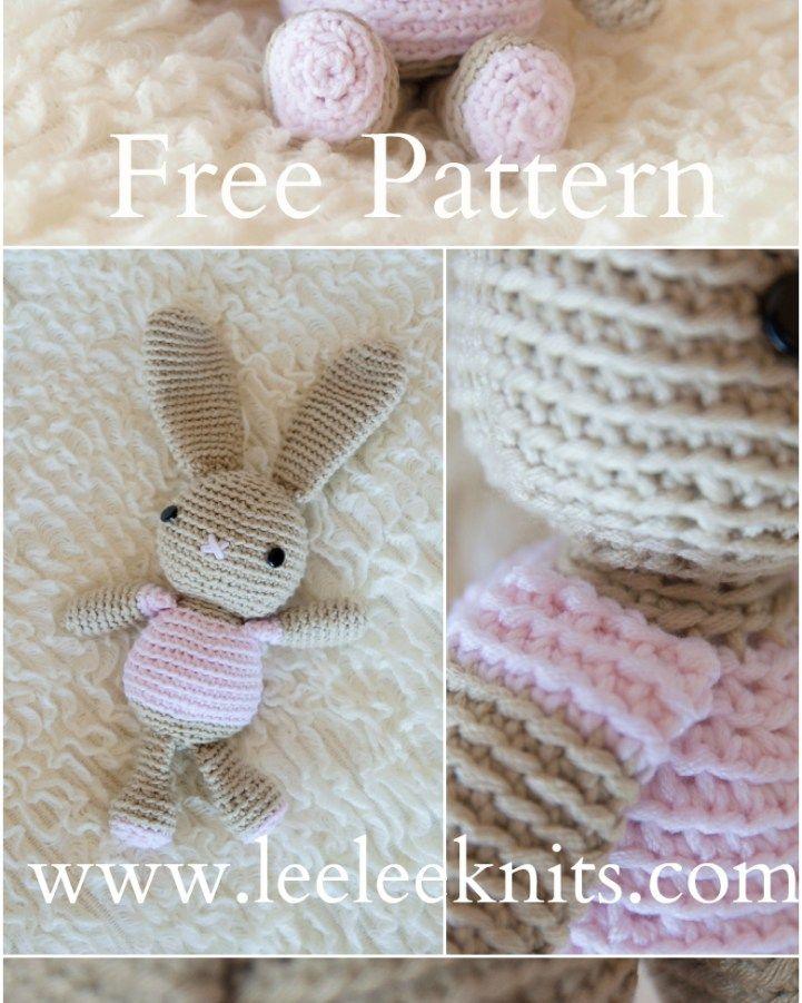 Patrón de conejito de ganchillo gratis | manta de apego | Pinterest ...