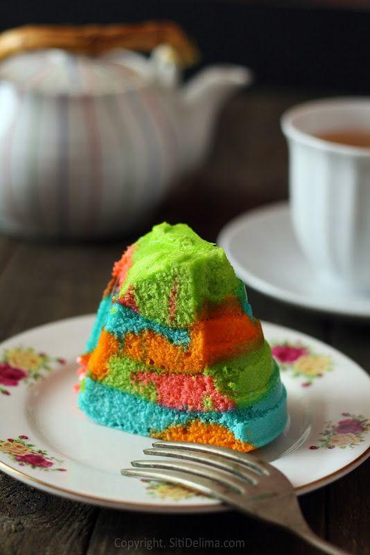 Kek Kukus Warna Warni Dari Dapur Ct
