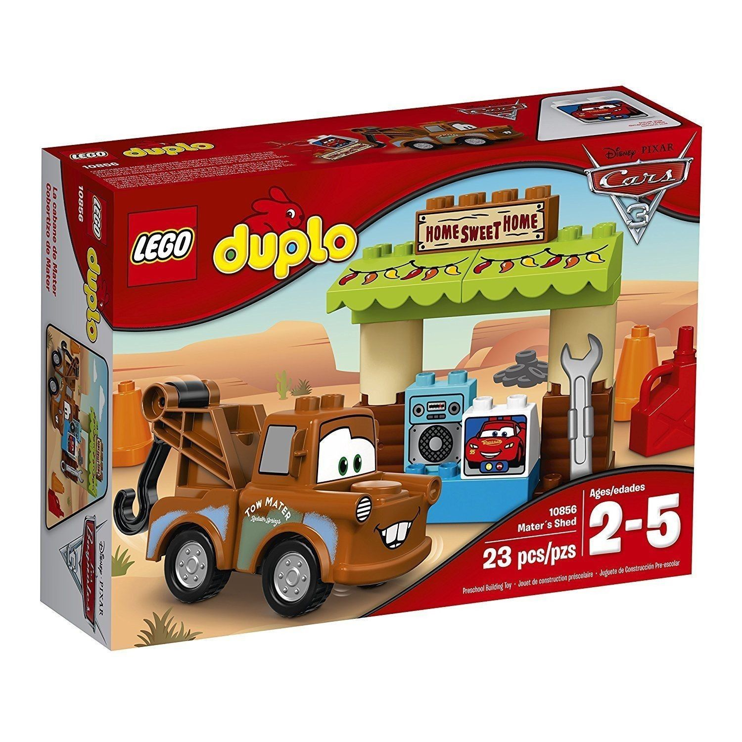 LEGO DUPLO Cars Mater s Shed Building Play Set 10856 NEW